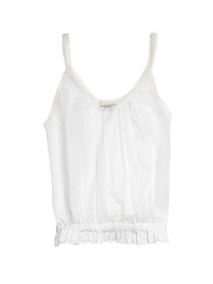 Cotton voile sleeveless top