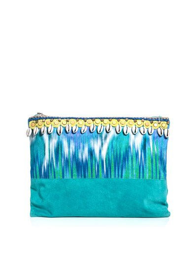 Matthew Williamson Escape Snake-faze panelled clutch