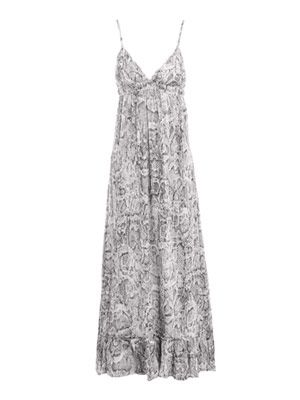 Katherine snake-print beach dress