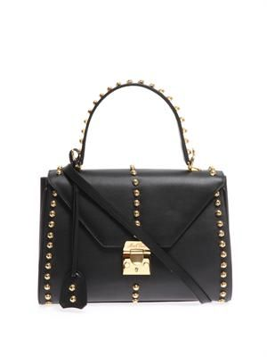 Scottie medium studded leather tote