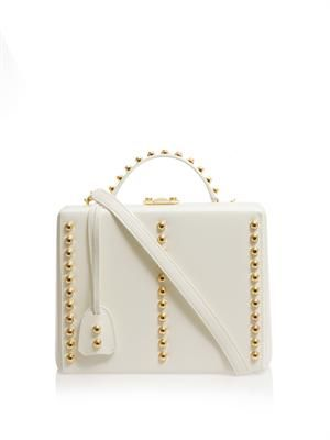 Grace large studded leather box bag