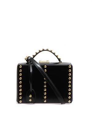 Grace mini studded leather box bag