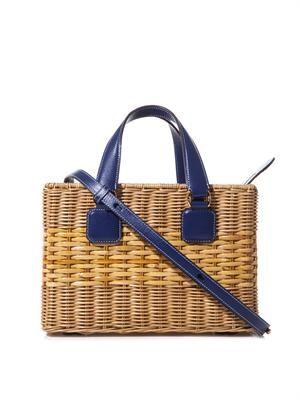 Manray rattan wicker box bag