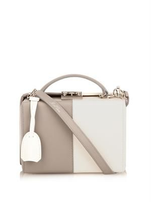 Grace small bi-colour leather box bag