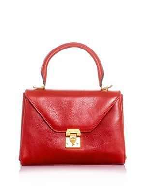 Scottie medium leather tote