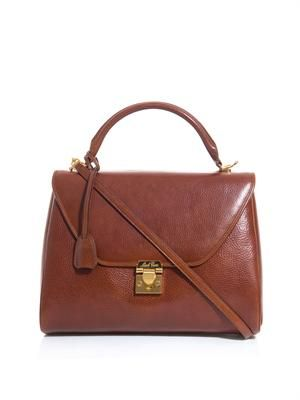 Scottie leather tote