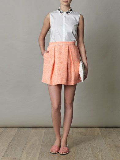 Sea Tweed mini skirt