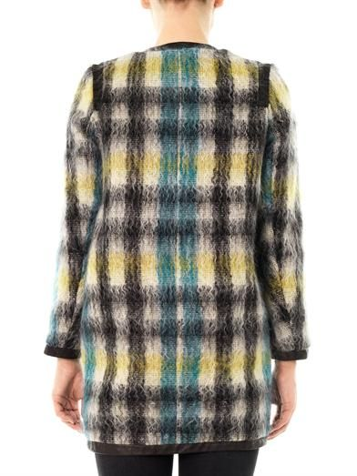 Sea Check mohair-wool coat