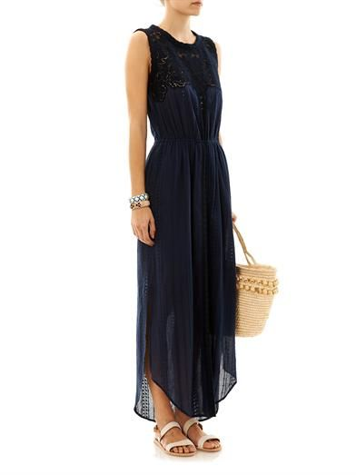 Sea Lace sleeveless cotton dress