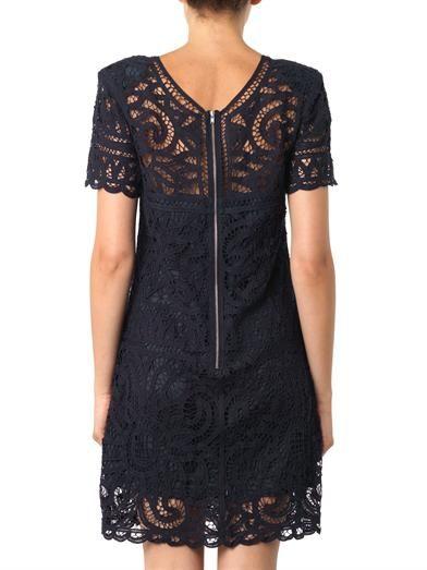 Sea Battenburg lace dress