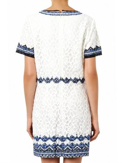Sea Embroidered lace shift dress