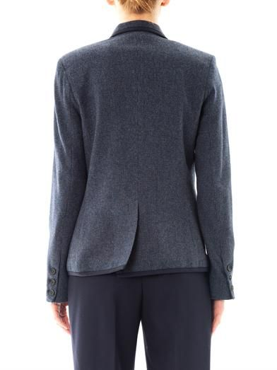 Sea Gryphon pocket wool blazer