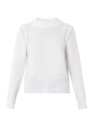 Hand-knit mohair-blend sweater