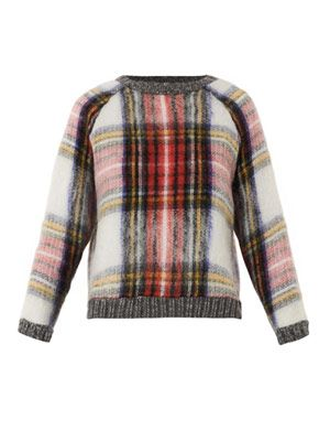 Tartan wool-blend sweater