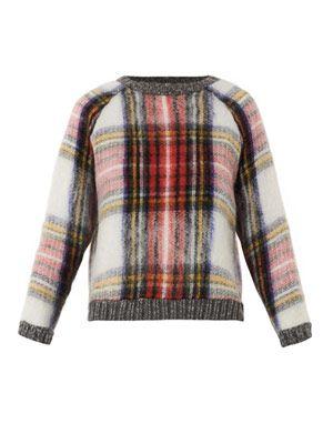 Tartan wool-blend sweater