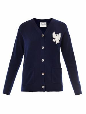 Gryphon embroidered cardigan