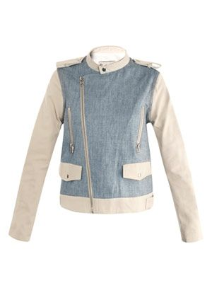 Zip-sleeve denim-jacket