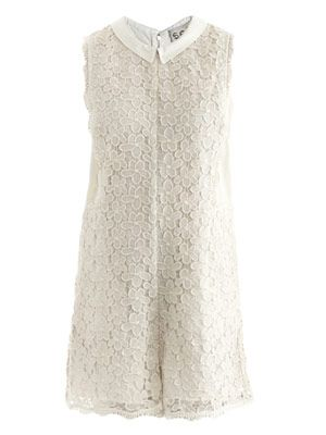 Lace daisy playsuit