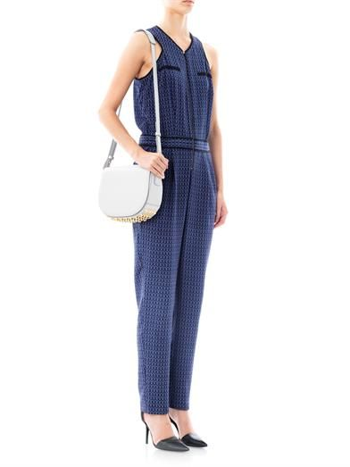 Sea Zigzag-print silk jumpsuit
