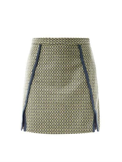 Sea Zigzag jacquard skirt