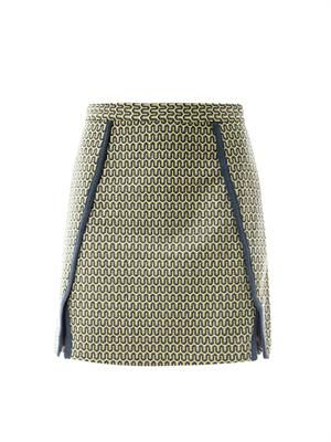 Zigzag jacquard skirt