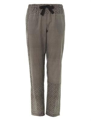 Mosaic and diamond-print trousers