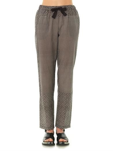 Sea Mosaic and diamond-print trousers