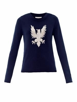 Gryphon embroidered sweater