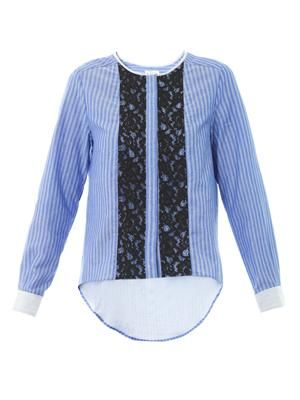 Oxford stripe blouse