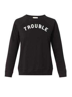 Trouble-print sweatshirt