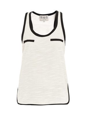 Contrast-trim tank top