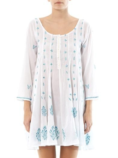 Juliet Dunn Embroidered tunic kaftan