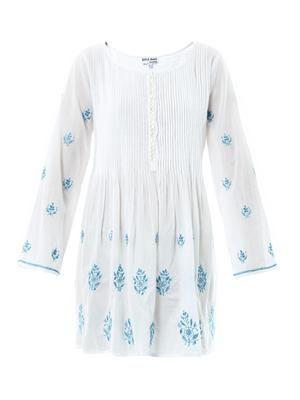 Embroidered sun dress