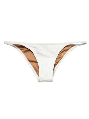 Petal textured bikini briefs