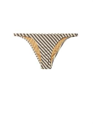 Petal striped bikini briefs