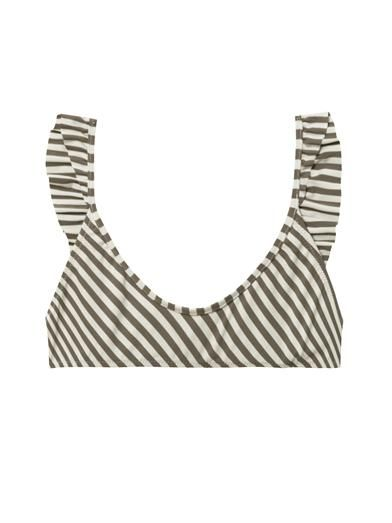 Made by Dawn Petal striped bikini top
