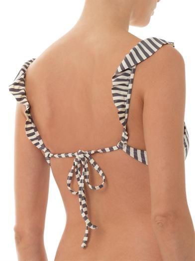 Made by Dawn Petal striped bikini top
