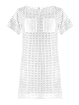 Textured waffle cotton dress