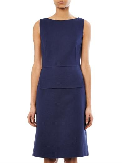 Osman Peplum cotton-twill dress