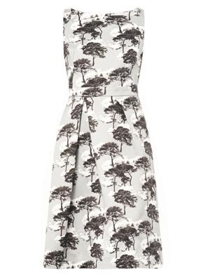 Sky Forest-print cotton dress