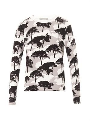 Tree-print sweatshirt
