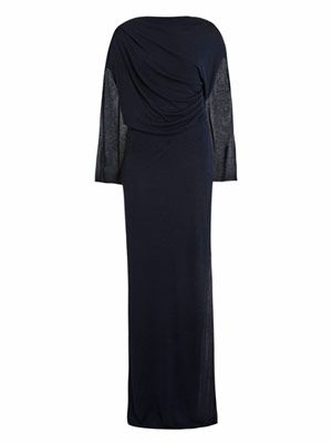 Jersey draped full length dress