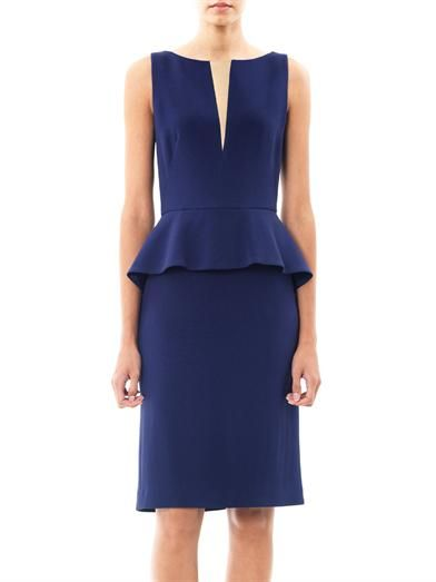 Osman Fitted peplum dress