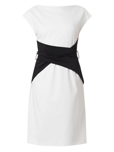 Osman Bi-colour wrap-waist dress