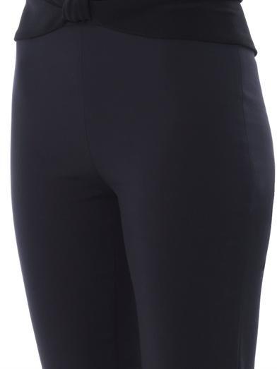 Osman Turban-waistband crepe trousers