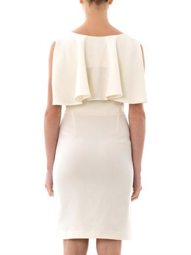 Osman Cape wool-crepe dress