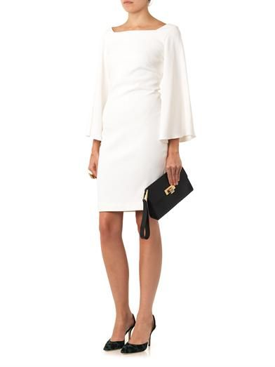 Osman Split-sleeve crepe dress