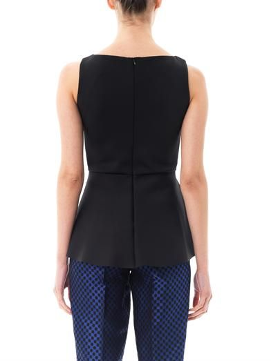 Osman Neoprene peplum top