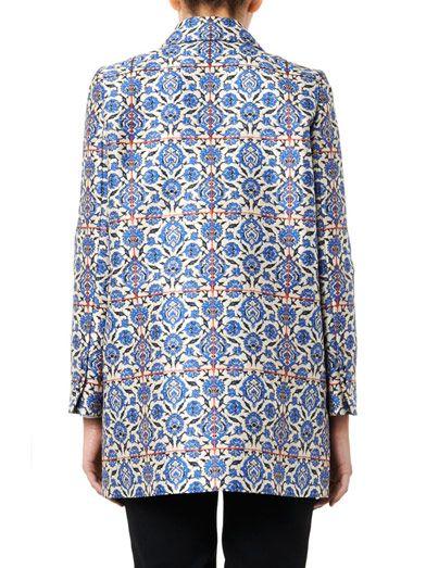 Osman Tile-jacquard pea coat
