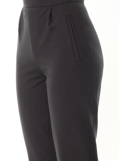 Osman Techno wool high-rise tailored trousers